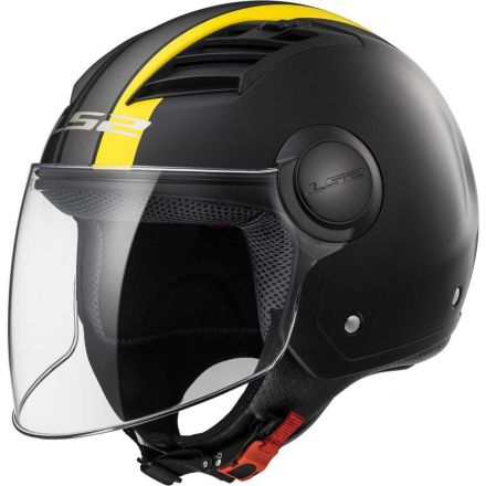 CASCO AIRFLOW METROPOLIS MATT BLACK/YELLOW LS2 HELMETS  TAGLIA L