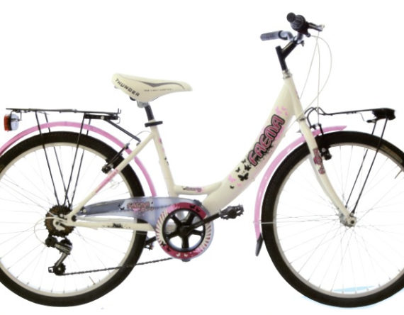 Bici OLANDA 24 MONOTUBO 6V. FAEMA BIANCA
