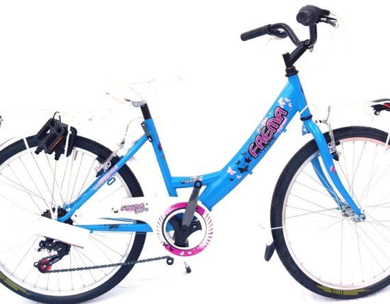 Bici OLANDA 24 MONOTUBO 6V. FAEMA CELESTE