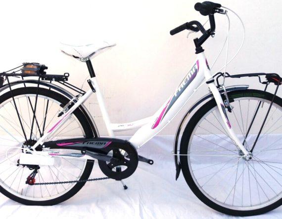 Bici OLANDA 26 MONOTUBO 6V. FAEMA BIANCA