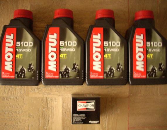 OLIO-MOTO-MOTUL-5100-4T-15W50-ESTER-FILTRO-OLIO-CHAMPION-121106452021
