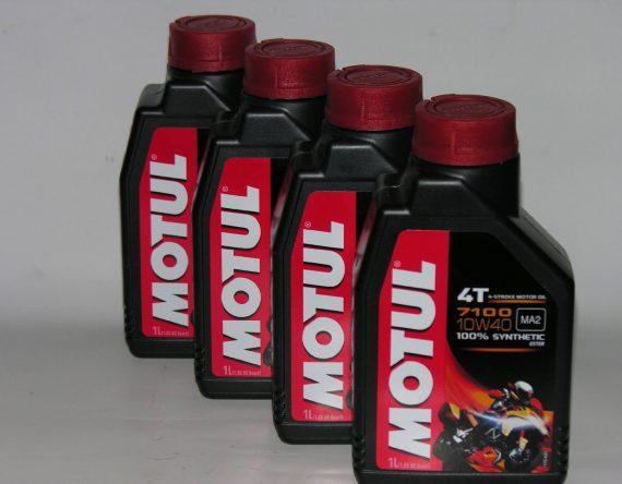 4-LT-LITRI-OLIO-motore-moto-4t-MOTUL-7100-10W40-100-Sintetico-NEW-Ester-B00LA4BXE2