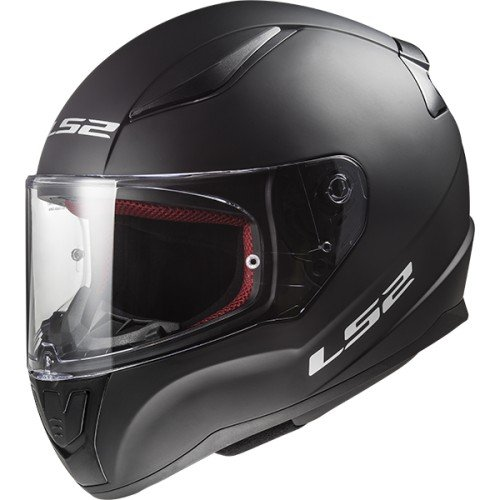 CASCO INTEGRALE LS2 RAPID FF353 SOLID NERO OPACO